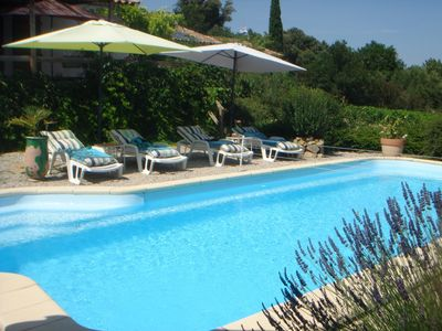 Photo for 2 bedroom, 2 bathroom, private pool, garden and vineyard views - Bliss!
