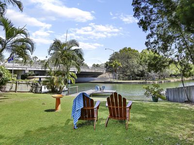 Photo for Waterfront, River Views, Walking Distance to Noosa River,