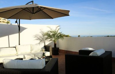 Photo for Golf apartment roof terrace