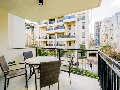 Photo for 4 ROOMS - BALCONY IN YONA HANAVI 19 NEXT TO BEACH.