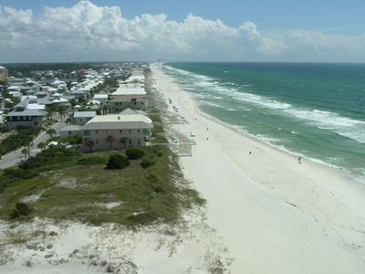 View of gulf and Carillon Beach from living room balcony