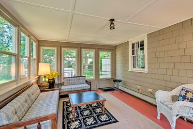 Unwind inside with the family around during your stay in this vacation rental.