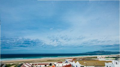 Photo for Apartment with sea views, two minutes from the beach on foot.