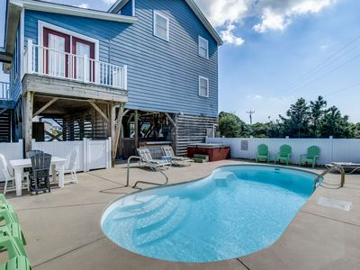 Photo for Pelican's Paradise   150 ft from the beach   Private Pool, Hot Tub   Nags Head