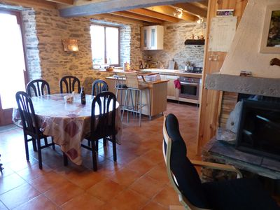 Photo for Very cozy chalet 3 ch, 6 pers Poële Fireplace, mountain village facing vertices