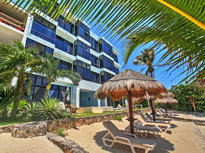 Photo for Chic Akumal Resort Condo w/ Panormic Ocean Views!