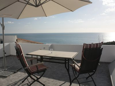Photo for FANTASTIC SEA VIEW, PRIV. ROOF TERRACE, AIRCON, WIFI, ANIMALS ALLOWED