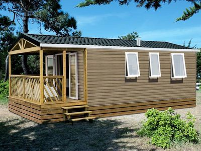Photo for Camping Domaine de Pont Mahé *** - Mobile home Loggia Bay 3 Rooms 4 Persons