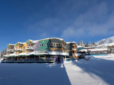Photo for Ski-in/Ski-out Condo + Private Hot Tub | Perfect Winter Escape!
