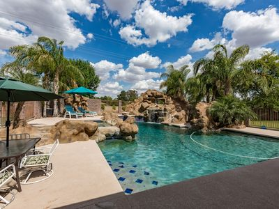 Photo for Mesa Family Fun Home  & Oasis - pool with slide, theater room, game room, bbq
