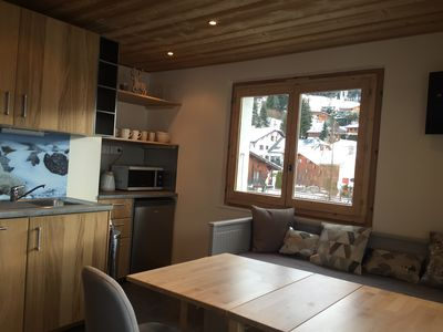Photo for Charming 2 rooms fully renovated in the village center des Gets