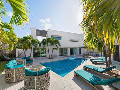 Photo for Magnificent Ocean Pool Villa with private courtyard and pool in Exuma, Bahamas