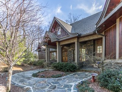 Photo for View House  - Stunning Views of Mountains and Yadkin River, huge deck, wood burning fireplace