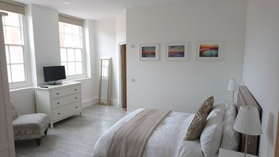 Photo for Beautiful apartment in grade two listed building, just minutes from the beach.