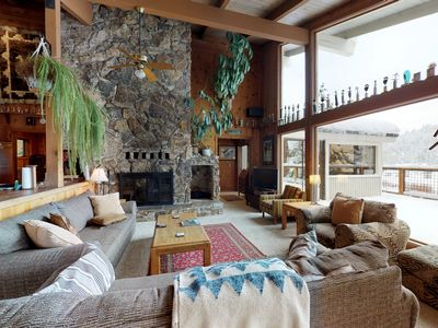 Photo for Classic Squaw Valley home with mountain views and a large deck!