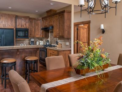 Photo for Relax at this comfy Caldera Springs cabin with a private hot tub, A/C and WIFI