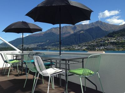 Photo for All Day Sun and stunning mountain and lake views