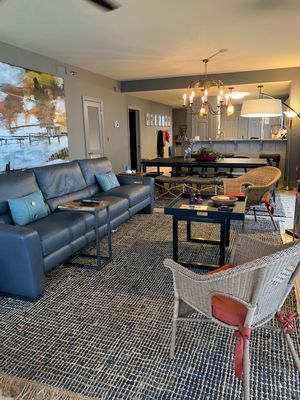 open concept living / dining