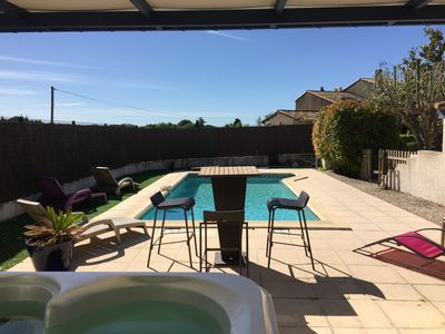 Photo for New season - VERY PRETTY Villa pool jacuzzi air conditioning garden MER & MONTPELLIER
