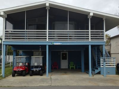 Photo for Warm Beach Home Includes 2 Golf Carts And Many Amenities