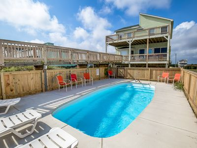 Photo for Derrycon   Oceanfront   Dog Friendly, Private Pool, Hot Tub   Nags Head