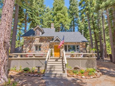 Photo for Tahoe Stone Cottage, Tahoe Park Private Beach, Tahoe City, West Shore