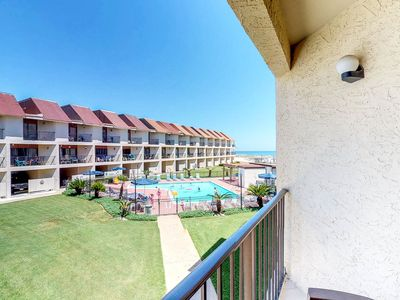 Photo for Spacious condo with views of the gulf, near beaches, features shared pool