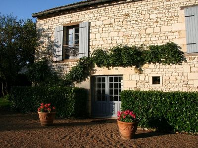 Photo for Stone Cottage, 2 bedrooms up to 6, pool, in a XVIIth C Castle, Loire Valley
