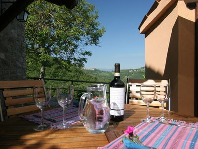 Photo for Idillic Umbrian Farmhouse with Private Pool  Views of Montone  2BR/1BA