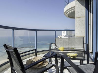 Photo for Panoramic Apartment Svoboda in Tel Aviv, with sea view, shared pool, 2 bedrooms, 4 sleeps