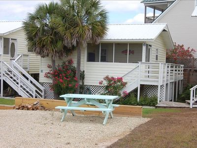 Photo for Cape San Blas Cottage - Beach side of the Cape - steps to the beach