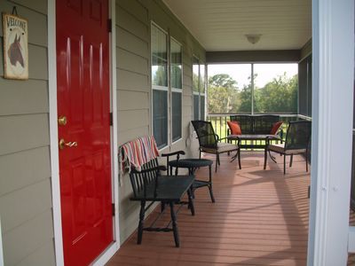 Front screened porch.