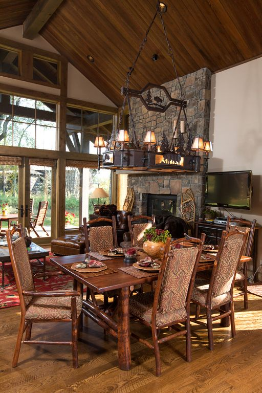 Luxury cabin at jh golf and tennis teton village jackson for Cabin rentals in jackson hole wy