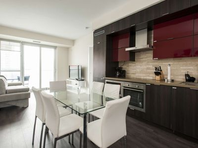 Photo for Luxurious ❤️ property across from the CN Tower with Lake views