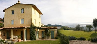 Photo for Top renovated cottage with sea view and pool in Tuscany