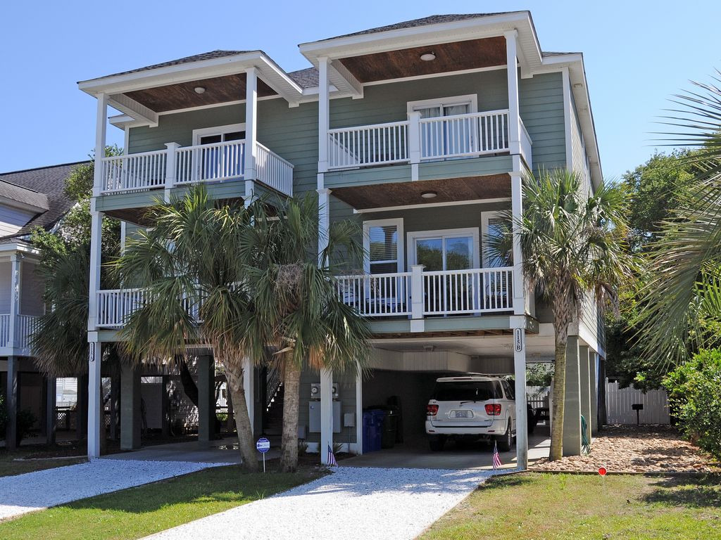 4 Bedroom 4 5 Bath Beach House Private Pool Steps From Beach Surfside Beach Myrtle Beach