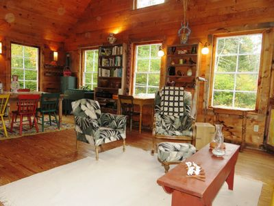 Walters Cabin - The main living area is a large bright space.