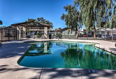 With a community pool, beds for 6, and a patio, this home is truly 5-star.