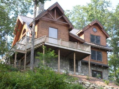 Photo for Awe Inspiring Log Home,  Close to Class C trout Stream, Wi-Fi