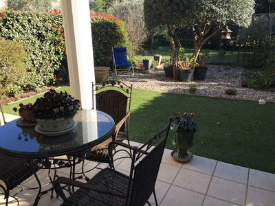 Photo for Comfortable air-conditioned apartment with terrace and landscaped garden