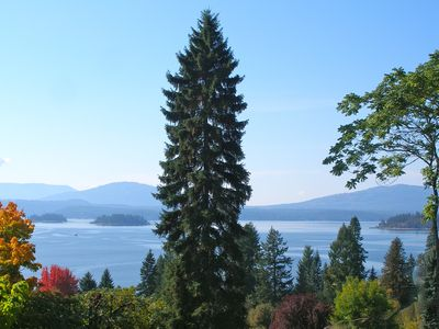 Our new expanded view (Oct 2013) from the deck looking SW over Lake Pend Oreille