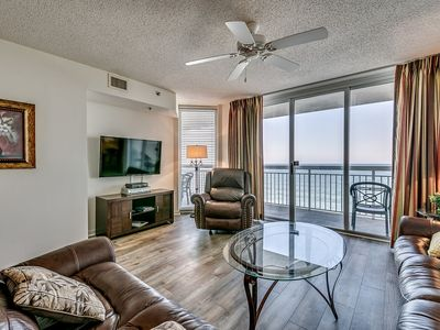 Photo for Crescent Shores 903, 3 Bedroom Beachfront Condo, Hot Tub and Free Wi-Fi!