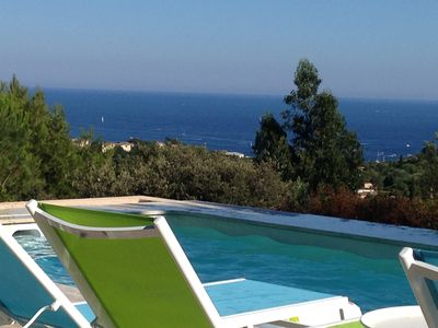 Photo for Villa Geais - Sea view and heated pool 28 ° C