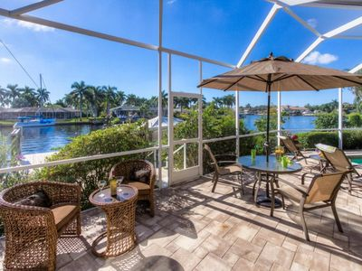 Photo for 3 bedroom 3 bath house fast access to the Gulf huge pool area and dock located near Cape Coral Yacht