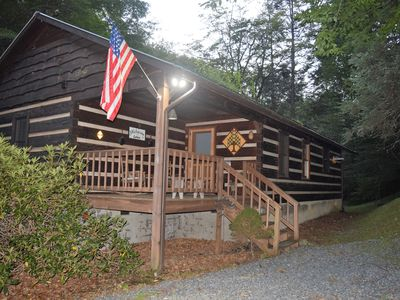 Photo for Carters Creekside Cabin on Rushing Mountain Stream Minutes to Boone & Parkway