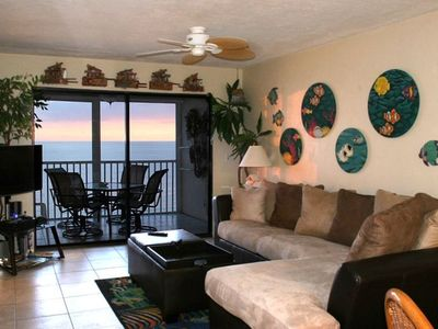 Photo for Gulf-Front Condo with Front Row Sunset Views