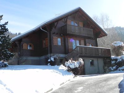 Photo for Very pleasant chalet to live with a superb view at 980m of altitude