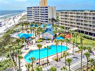 Photo for ☀Dunes of Panama 107B-2BR☀Gulf & Pool Views-VolleyBall! OPEN June 11 to 13 $762!