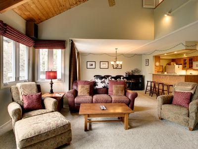 Photo for Lovely condo w/ balcony, ski shuttle & shared hot tub, pools, tennis, gym & more