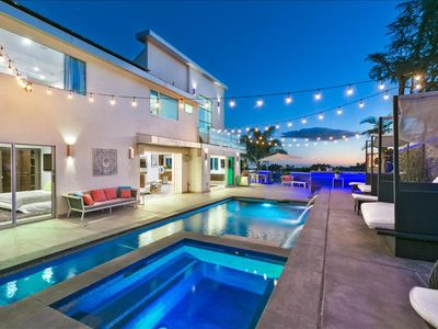 Photo for Gorgeous Hollywood Hills Contemporary Home With Views, Pool, and Hot Tub